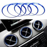 5 Adet Araba styling Klima Hava Firar Çıkışı Halka Kapak Trim için Mercedes Benz CLA C117 CLA180 CLA200 CLA250 X156 GLA GLA200