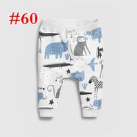 면 100 %의 아기 소년 소녀 밝은 회색 동물 동물원 바지는 회색 테리 바지 아이 아동 의류 상어 전체 인쇄 바지 바지 바지 2-7T