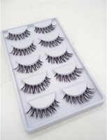 Nuovo caldo 50 accoppiamenti / LOT naturale sparse Cross Eye Lashes Extension Makeup Long false ciglia Spedizione gratuita