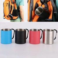 Neue Edelstahl Becher Tasse 220 Ml Doppelwand Reisebecher Kaffee Tee Tasse Bier Becher Outdoor Trinkwasser Tasse WX9-728