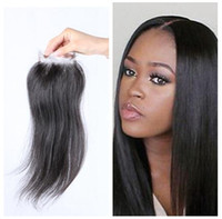Бразильские прямые волосы с закрытием 8А бразильские волосы девственницы 4x4 бразильские кружевные наращивания волос человека