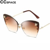 Sexy Cat Eye Sunglasses Women Fashion Gold Bee 2018 Luxury S...