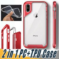 Ultra Slim 2 In 1 Case Soft TPU+ PC Clear Case Cover Transpar...