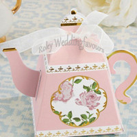100PCS Whimsy Teapot Favors Boxes Wedding Shower Teatime Flo...