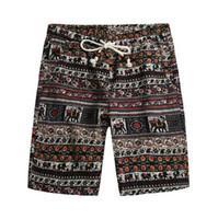 Брат Ван бренд 2018 Летние новые мужские Бермудские шорты мода повседневная свободные прямые цветочный узор пляжные шорты