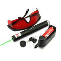 Puntatore laser a fuoco verde regolabile GS5 532nm con caricatore per batterie