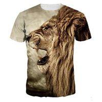 2018 أحدث الذئب 3d طباعة الحيوان بارد مضحك قميص الرجال قصيرة الأكمام الصيف القمم تي شيرت تي شيرت الذكور الأزياء الزى الذكور 3xl