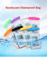 Noctilucent Su Geçirmez Çanta PVC Koruyucu Cep Telefonu Çantası Kılıfı Dalış Yüzme Spor Evrensel iphone X 6 7 8 artı S9 NOTE8