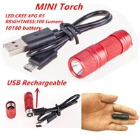USB Rechargeable portable waterproof Light Aluminium Alloy s...