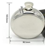5ozラウンドステンレス鋼のヒップフラスコ液の容器送料無料