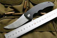 Miker المنجل سكين كروي زعنفة الطي سكين الصلب مقبض d2 الصلب التنزه التخييم cnc edc أداة الجيب بقاء السكاكين