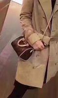 Speedy ombro m61252 mini bolsa bonito bolsa de couro transversal bolsas 16 cm fêmea nano nano flor marrom flor mini descanso cluch saco