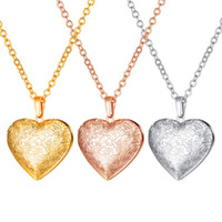 Flower Lockets Necklaces 18K Gold Platinum Plated Rose Gold ...