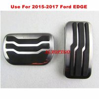 Use For AT 2015- 2017 Ford Edge Gas Brake Pedal Pad Cover Non...