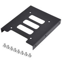 """Freeshipping 10pcs 2.5"""" a 3.5"""" SSD adaptador de metal duro Soporte de montaje de disco duro Soporte para PC"""