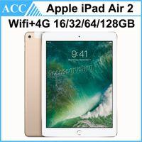 Refurbished Original Apple iPad Air 2 iPad 6 WIFI + 4G Cellular 16GB 32GB 64GB 128GB 9.7 inch Triple Core A8X Chip Tablet PC DHL 1pcs