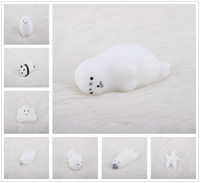 Hot Lovely White Squishy Animals Healing Squeeze Stress Reliever Kids DecompressionToy Suave Lindo Regalo Envío Gratis