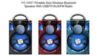 MS-186BT كبير بلوتوث المتكلم الصوت ايفي المتحدثون المحمولة AUX المتحدثون باس صندوق الموسيقى في الهواء الطلق لاسلكية مع USB الصمام الخفيفة TF راديو FM