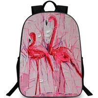 Flamingo backpack Famous paints day pack Best picture school bag Casual  packsack Quality rucksack Sport schoolbag Outdoor daypack bbce37dd739ec