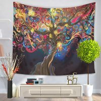 13 Style colorful tree wall tapestry high quantity multifunc...