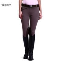 TCJULY 2018 New Fashion Breeches For Women Pantaloni da equitazione in pelle  scamosciata rinforzati a75c619aed3c