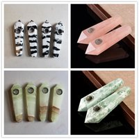 Newest Crystal Stone Quartz Smoking Pipe Zebra Pink Snow Pri...