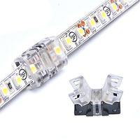 Clip LED-Streifen-Verbindungs 5pin 4pin 2pin 12mm 10mm 8mm Band Licht PCB-Adapter für 5050 3528 LED RGB RGBW-Streifen zu Streifen