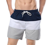 Shorts Mens rapide Maillots de bain Dry Stripe Shorts de plage avec maille doublure Poches Stripe Quick Dry Vêtements décontractés de Short de bain pour hommes