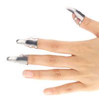 3pcs Edelstahl-Finger-Gitarre wählt Plektren Durable