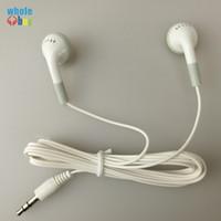버스 / 기차 / 비행기 / 학교 / 여행 선물 한번 도매 300pcs / lot에 대 한 도매 저렴 한 일회용 이어폰 헤드폰 Earbuds