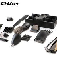 CHJPRO 7 in 1 Original Wiederaufladbare Elektrische Männer Rasierer Haar Nase Bart Seitenschneider Set eu-stecker Haarschneidemaschine