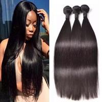 Factory grossist brasilianska hårkvalitet 8a högkvalitativa silkeslen raka indiska hårbuntar malaysiska peruanska jungfruliga frakt