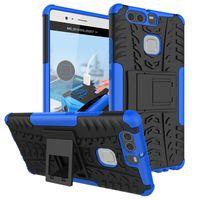 Pour Huawei Honor Play 5X P9 Plus honorer 5c honor7 lite GT3 GR5 mini Y3 II Bee 2 Nova Case TPU Hybride Kickstand Couverture Arrière Armure