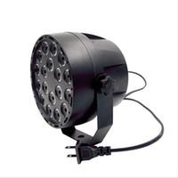 18LEDS UV LED Par Etapa Light 54W Ultraviolet Black Lights DMX 512 IR Control Remoto Sound Lámpara Proyector Activado para Party Bar Club Disco