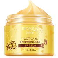 Vendita calda BIOAQUA 24K ORO Shea Buttermassage Cream Peeling Rinnovo Maschera del piede del bambino pelle liscia cura della mascherina crema esfoliante Piedi
