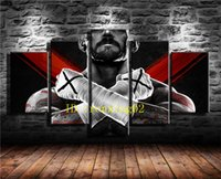 CM Punk Punch, 5 Pieces Home Decor HD Printed Modern Art Pain...