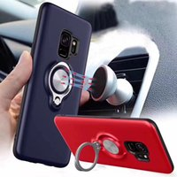 Autohalterung Magnetic Suction Hybrid Hartplastik + Weicher TPU-Fall für iPhone XS MAX XR X 8 7 Plus 6 Galaxy S9 Hinweis 9 8 S8 Coque Defender Cover
