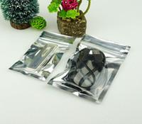 Прозрачная серебряная алюминиевая фольга с застежкой-молнией - 7X13 см / 200шт. Металлический алюминизированный пакет для упаковки кофе.