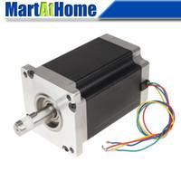 Motor de passo CNC de duas fases 110J18150-460 / 110J18165-460 Torque alto 20N.m / 24N.m 6A 4 derivações Etapas máximas para 25000 @ SD