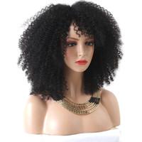 Afro Kinky Kıvırcık Tam Dantel İnsan Saç Peruk Kadınlar Için Doğal Siyah 130% Yoğunluk Perulu Remy Saç Bob Dantel Ön İnsan Saç Peruk