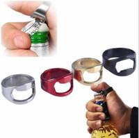 Criativo de aço inoxidável abridor de anel anel de dedo abridor de garrafas de cerveja bar legal partido ferramentas de cozinha mental abridores de tampa multicolors