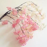 100pcs 가짜 벚꽃 꽃 분기 베고니아 사쿠라 나무 줄기 150cm 이벤트 웨딩 파티에 대 한 긴 인공 조화