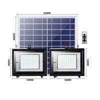 Solar-LED-Flutlicht im Freien 40W 32W 24W 12W 70-80LM / W Lampe wasserdichtes IP65-Beleuchtungs-Flutlicht-wieder aufladbarer Batterie-Panel-Leistungsregler