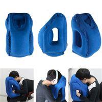 Seyahat yastık Şişme yastıklar hava yumuşak yastık gezisi taşınabilir yenilikçi ürünler vücut sırt desteği Katlanabilir darbe boyun yastık c769