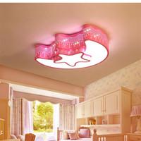 نجمة القمر الحديثة بسيطة وجميلة الصمام مصباح السقف رياض الأطفال غرفة حماية العين أضواء الاكريليك سقف الإضاءة