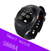 S888A smartwatch Niños Elder smart watch SOS Llamada de emergencia Smartwatch GPS LBS Wifi SIM Card Tracker de fitness inteligente Reloj