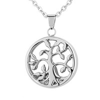 Tree of Life Cremation Jewelry Keepsake Memorial Urn Necklac...