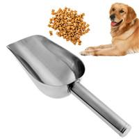 الجملة المقاوم للصدأ تغذية الحيوانات الأليفة الغذاء جرو تغذية الكلب الغذاء مغرفة مجرفة الحيوانات الأليفة تغذية الكلب الصوتيات حجم 23.5 * 8 سنتيمتر