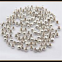 1 Satz (1000 STÜCKE) 2-6mm Perlen Versilbert Glatte Runde Spacer Perlen DIY Armbänder Halskette Schmuck Geschenke