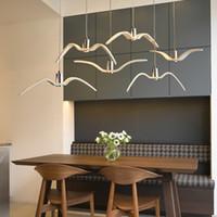 북유럽 갈매기 펜던트 빛 식당 바 현대 조류 펜던트 램프 창조적 인 카페 샹들리에 패션 숍 장식품이 램프 매달려 주도